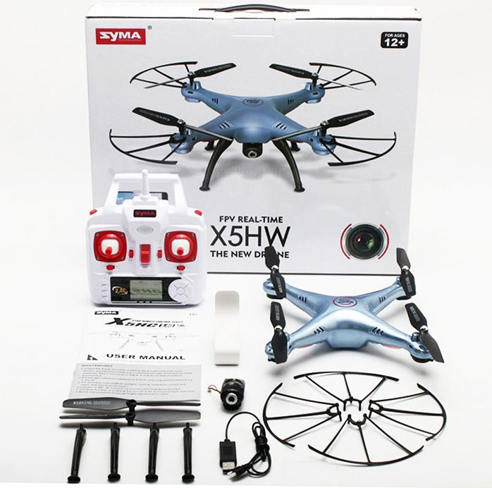 Dron SYMA X5HW Quadrocopter RC z Kamerą FPV Wi-Fi 2,4 GHz - VivoSklep.pl 8