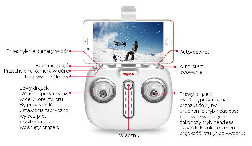 Dron SYMA X8 Pro Quadrocopter RC z Kamerą GPS Barometr Żyroskop - VivoSklep.pl 9