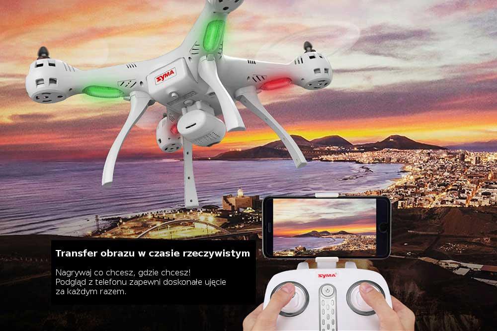 Dron SYMA X8 Pro Quadrocopter RC z Kamerą GPS Barometr Żyroskop - VivoSklep.pl 6