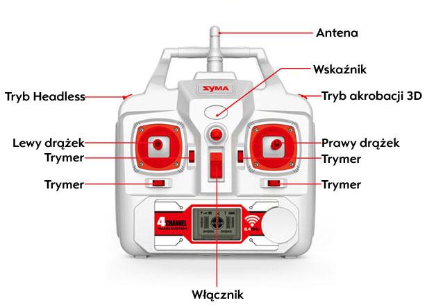 Dron SYMA X8HW Duży Quadrocopter RC z Kamerą i Barometrem - VivoSklep.pl 4
