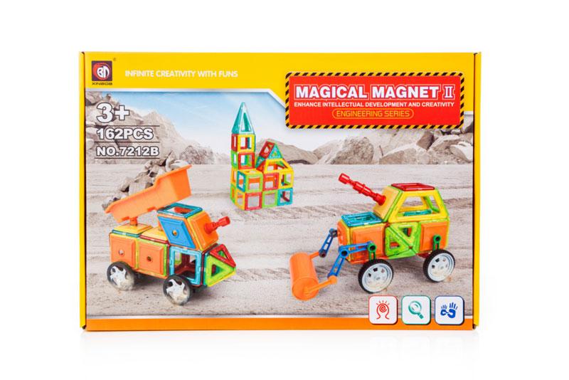 Klocki Magnetyczne MAGICAL MAGNET 162 Elementy 7212B Kolorowe - VivoSklep.pl 2