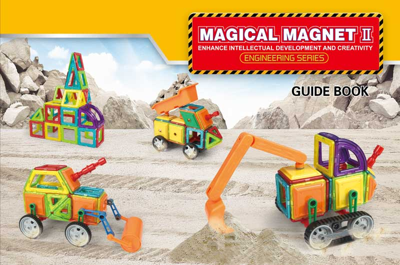 Klocki Magnetyczne MAGICAL MAGNET 162 Elementy 7212A - VivoSklep.pl 1