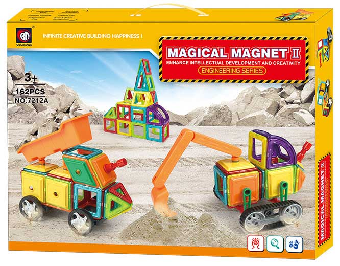 Klocki Magnetyczne MAGICAL MAGNET 162 Elementy 7212A - VivoSklep.pl 5