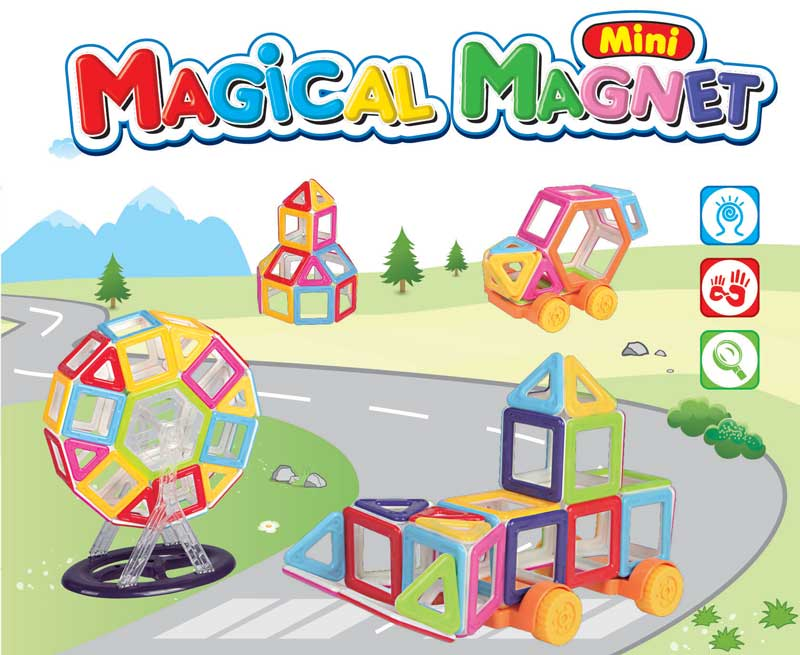 Klocki Magnetyczne Mini MAGICAL MAGNET 68 Sztuk M058B Kolorowe - VivoSklep.pl 1