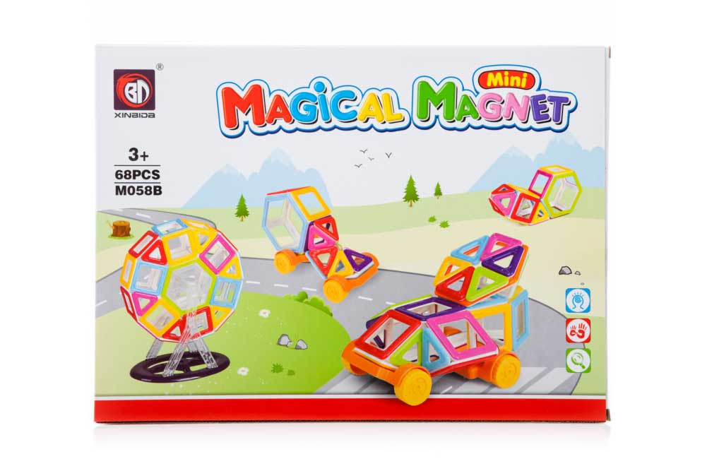 Klocki Magnetyczne Mini MAGICAL MAGNET 68 Sztuk M058B Kolorowe - VivoSklep.pl 13