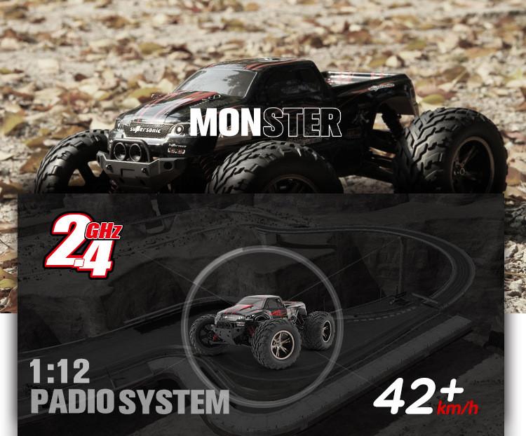 Samochód RC 9115 MONSTER TRUCK Zdalnie Sterowany 42 km/h Czerwony - VivoSklep.pl 1