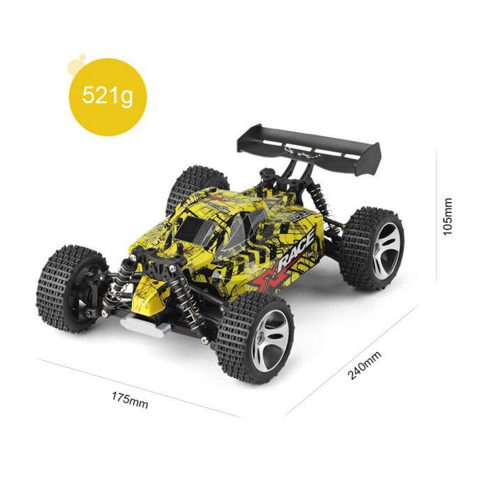 Samochód RC WLtoys 18401 Zdalnie Sterowany 4WD 25km/H Żółty 1:18 - VivoSklep.pl 6
