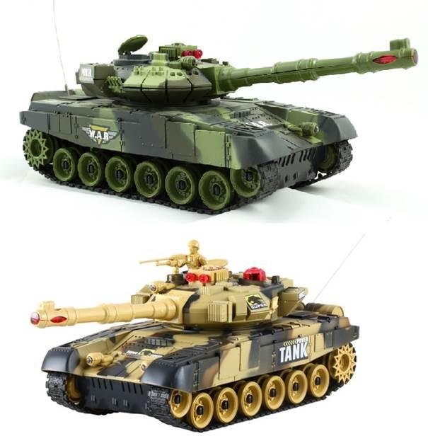 Zestaw 2 Czołgi RC 9993 T90 War Tank Strzelające na Podczerwień - VivoSklep.pl 1