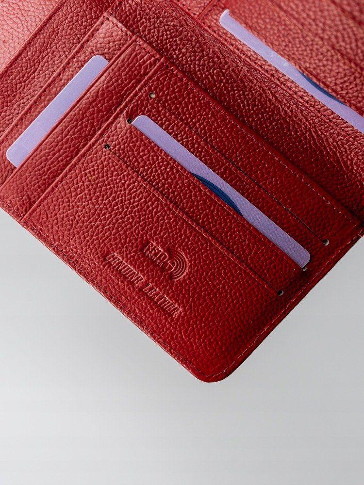 Portfel Damski ROVICKY Skórzany Lakierowany Zasuwany Czerwony 8808-MIR RED - VivoSklep.pl 5
